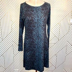 Nally & Millie Blue Animal Print Sweater Dress
